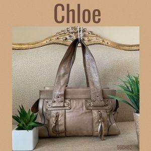 Chloe Shoulder Bag Brown Leather handbag
